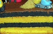 CONSTRUCTION YELLOW & BLACK LAYER CAKE