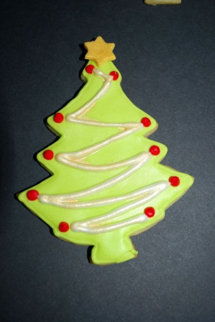 Christmas Tree cookie - Iced